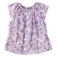 Toddler Girl OshKosh B'gosh® Floral Poplin Top