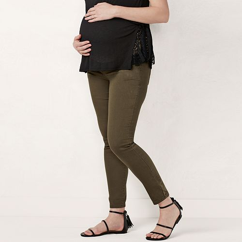 Maternity LC Lauren Conrad Belly Panel Jeggings