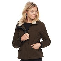 Juniors' Sebby Fleece-Lined Hooded Jacket