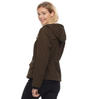 Juniors' Sebby Fleece-Lined Hooded Jacket