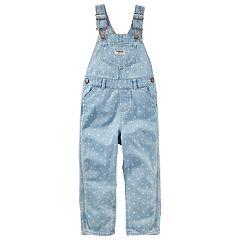 Toddler Girl OshKosh B'gosh® Polka-Dot Print Denim Overalls