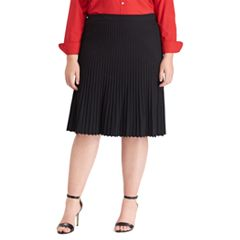 Plus Size Chaps Pleated A-line Skirt