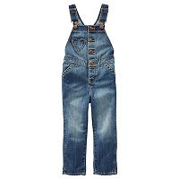 Toddler Girl OshKosh B'gosh® Denim Button Front Overalls