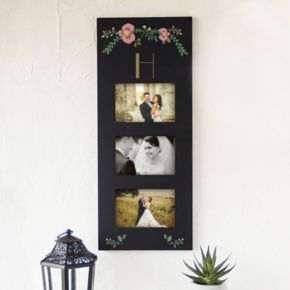 """Cathy's Concepts Monogram Floral 3-Opening 5.5"""" x 3.5"""" Collage Frame"""