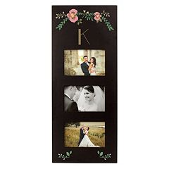 Cathy's Concepts Monogram Floral 3-Opening 5.5' x 3.5' Collage Frame
