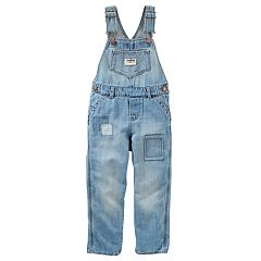 Toddler Girl OshKosh B'gosh® Patchwork Denim Overalls