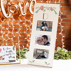Cathy's Concepts Floral Monogram 3-Opening 5.5' x 3.5' Collage Frame