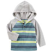 Baby Boy OshKosh B'gosh® Striped Raglan Hoodie