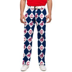 Men's Loudmouth Cleveland Indians Argyle Pants