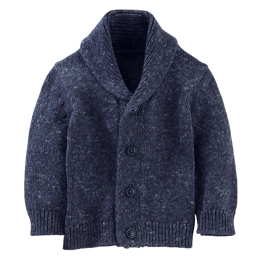 Boy OshKosh B'gosh® Marled Shawl Collar Cardigan Sweater