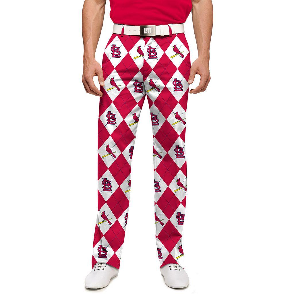Men's Loudmouth St. Louis Cardinals Argyle Pants
