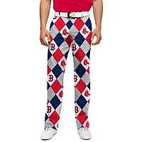 Men's Loudmouth Boston Red Sox Argyle Pants