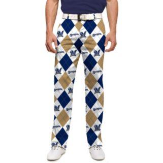 Men's Loudmouth Milwaukee Brewers Argyle Pants