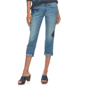 Women's SONOMA Goods for Life™ Embroidered Skinny Capri Jeans