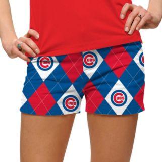Women's Loudmouth Chicago Cubs Argyle Shorts