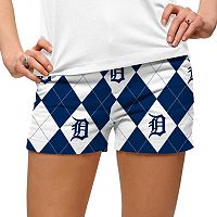 Women's Loudmouth Detroit Tigers Argyle Shorts
