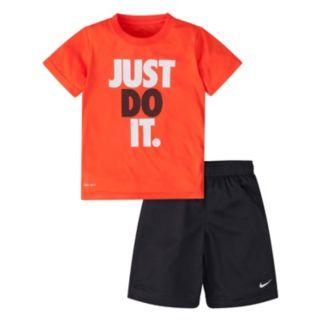 "Boys 4-7 Nike ""Just Do It"" Tee & Shorts Set"