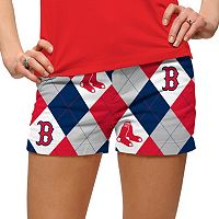Women's Loudmouth Boston Red Sox Argyle Shorts