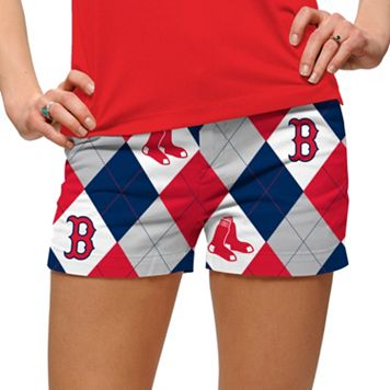 Women's Loudmouth Boston Red Sox Argyle Shorts