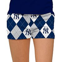 Women's Loudmouth New York Yankees Argyle Shorts