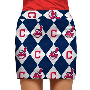Women's Loudmouth Cleveland Indians Golf Argyle Skort
