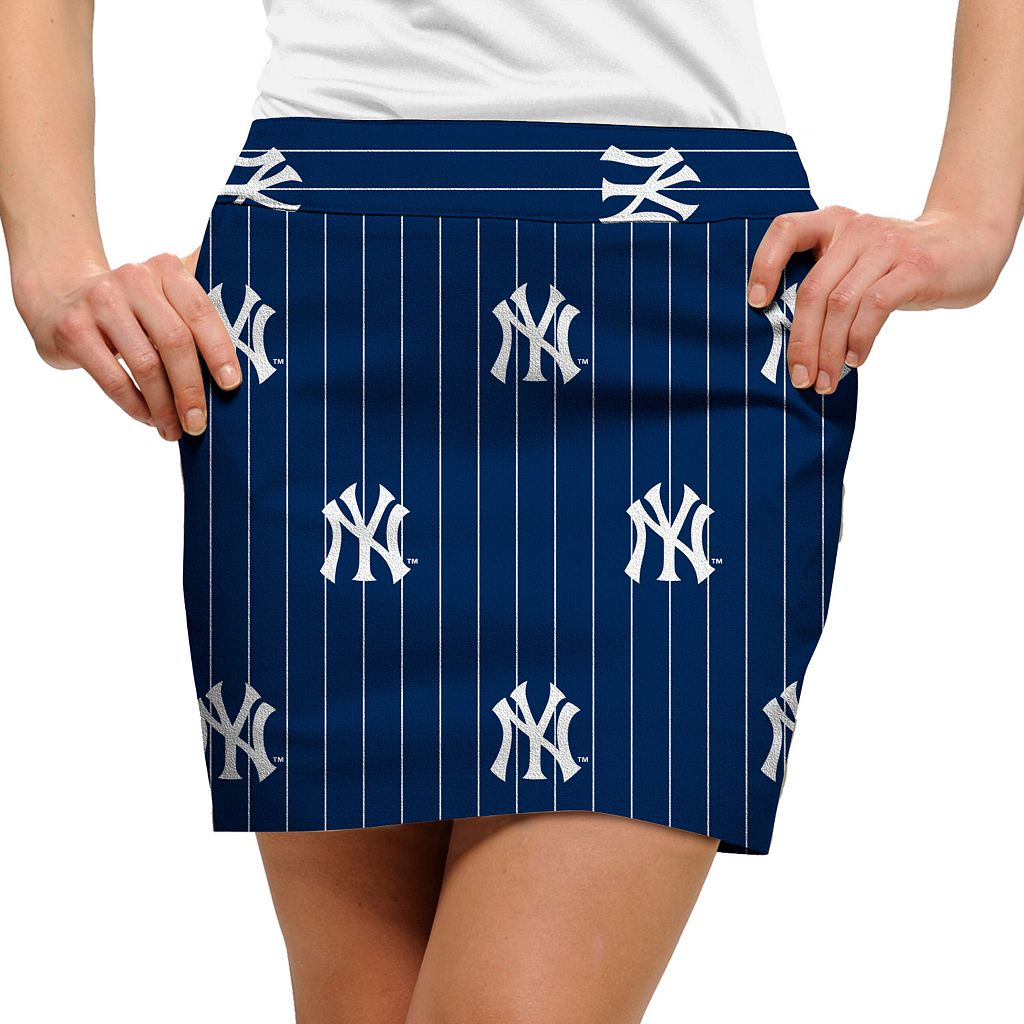 Women's Loudmouth New York Yankees Golf Pinstripe Skort