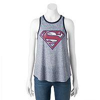 Juniors' DC Comics Superman Racerback Graphic Tank