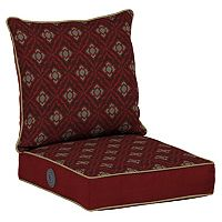 Bombay® Outdoors Geo Floral Adjustable Comfort Reversible Deep Seat Chair Cushion Set