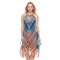 Women's MSK Print Halter Shift Dress