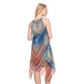 Women's MSK Print Halter Shift Dress