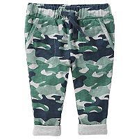 Baby Boy OshKosh B'gosh® Jersey-Lined Camo Pull-On Pants
