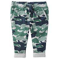 Baby Boy OshKosh B'gosh® Jersey-Lined Camo Pull-On Pants