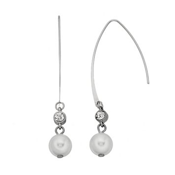 Simply Vera Vera Wang Simulated Pearl Nickel Free Threader Earrings