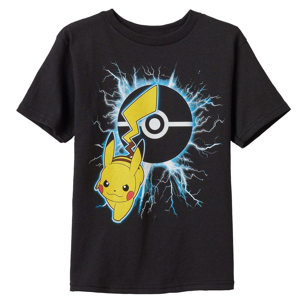 Boys 4-7 Pokémon Pikachu Lightening Graphic Tee