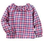 Toddler Girls OshKosh B'gosh® Ruffled Plaid Top