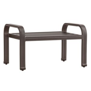 HomeVance Borego Aluminum Patio Ottoman