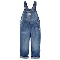 Toddler Girl OshKosh B'gosh® Butterfly Gemma Denim Overalls
