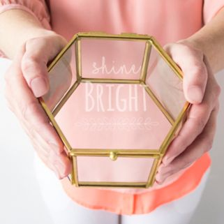"Cathy's Concepts ""Shine Bright"" Keepsake Box Table Decor"