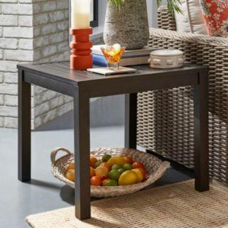 HomeVance Borego Aluminum Patio End Table