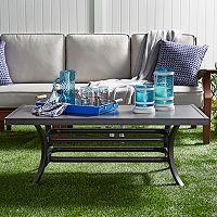 HomeVance Borego Aluminum Patio Coffee Table