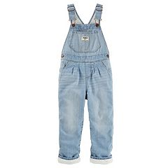 Toddler Girls OshKosh B'gosh® Denim Lined Bib Overalls