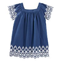 Toddler Girl OshKosh B'gosh® Short Sleeve Embroidered Trim Dress