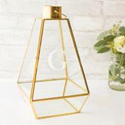 Cathy's Concepts Monogram Geometric Lantern Table Decor