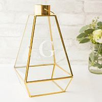 Cathy's Concepts Monogram Geometric Lantern Table Decor