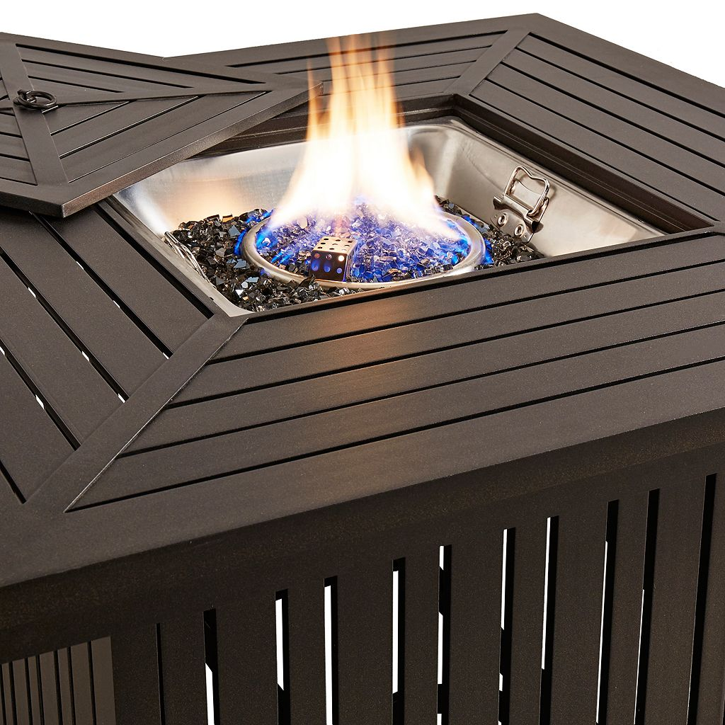 HomeVance Borego Patio Fire Pit Coffee Table