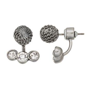 Simply Vera Vera Wang Chain Wrapped Ball Nickel Free Jacket Earrings