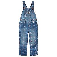 Toddler Girl OshKosh B'gosh® Denim Printed Overalls