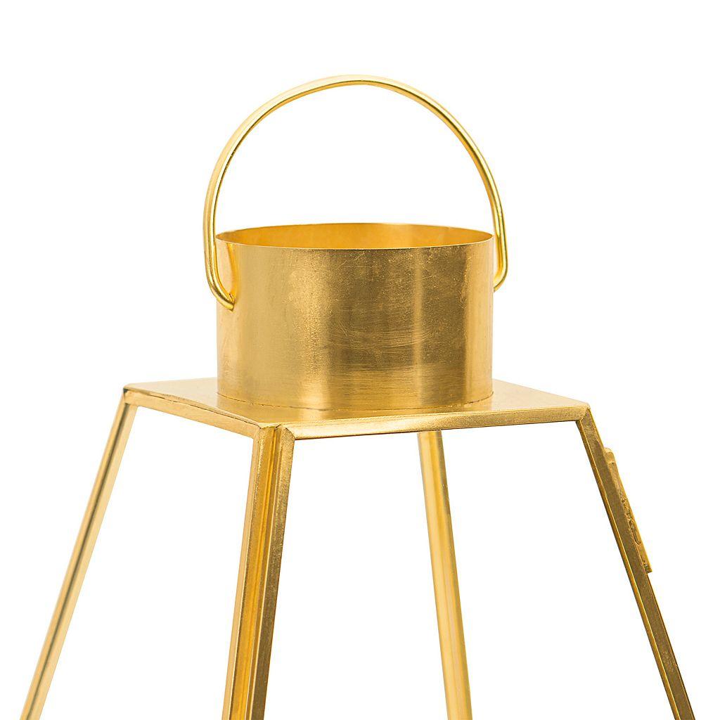 Cathy's Concepts Monogram Gold Finish Lantern Table Decor