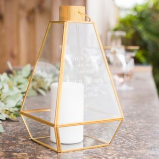 "Cathy's Concepts ""Your Love"" Memorial Lantern Table Decor"