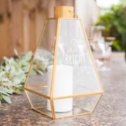 "Cathy's Concepts ""Shine Bright"" Geometric Lantern Table Decor"